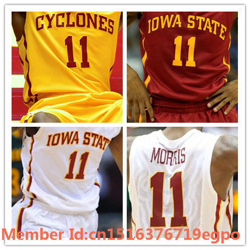 official photos 3dc3a 0c4b0 100% Stitched 2016 Iowa State Cyclones Jersey 11 Monte ...