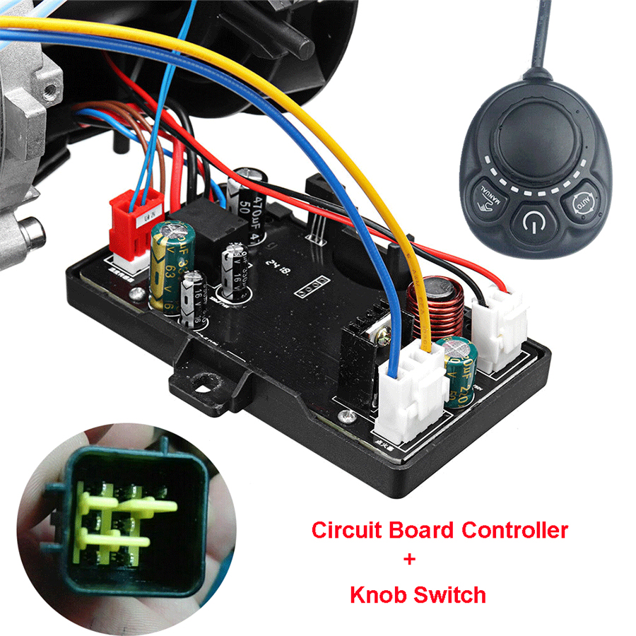 Universal 12V/24V Circuit Board + Knob Switch Remote Control Accessories For Car Track Diesels Air Heater Parking Heater