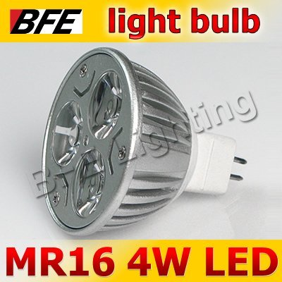 Holiday Sale 4pcs/Lot MR16 3 LED 4W Warm/Cold White Spot Light Bulbs LED Lamp Bright Downlight Drop Ship