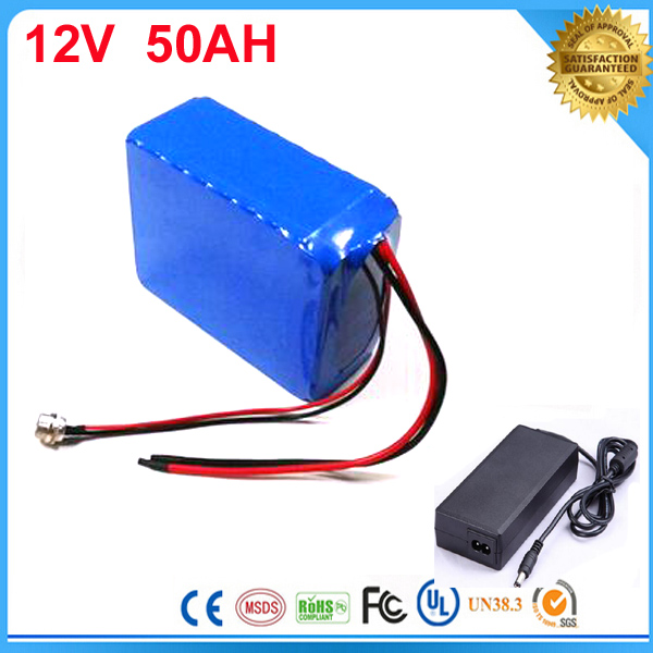 5pcs Solar street light li-ion battery 12V 50Ah lithium battery for solar system 12v 50ah electric bicycle battery with Charger 12 6v8a 12 6v 8a intelligence lithium li ion battery charger for 3series 12v lithium polymer battery pack good quality