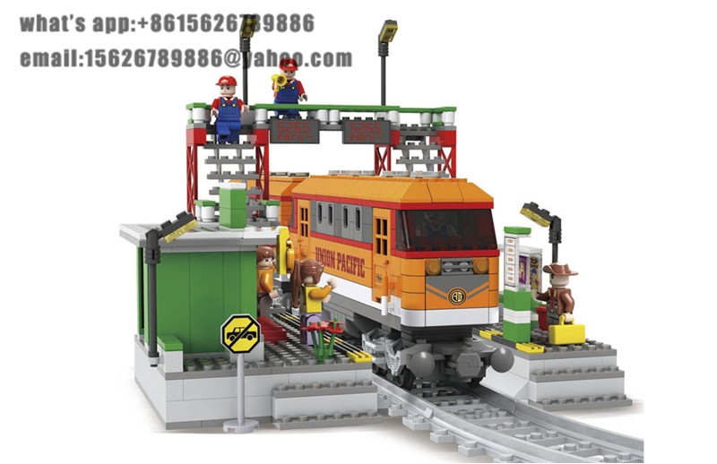 Ausini Model building kits compatible with lego city train 716 3D blocks Educational model & building toys hobbies for children ausini model building kits compatible city train 426 3d blocks educational model