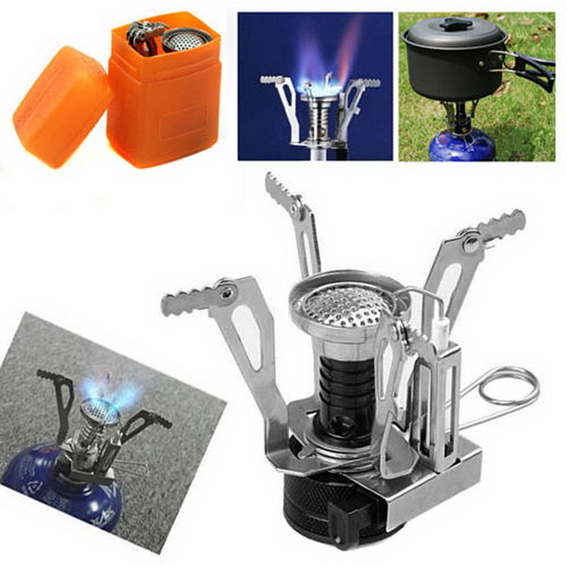1 PC Portable BBQ Stove Ultralight Backpacking Gas Butane Propane Canister Outdoor Camp Stove Burner T20