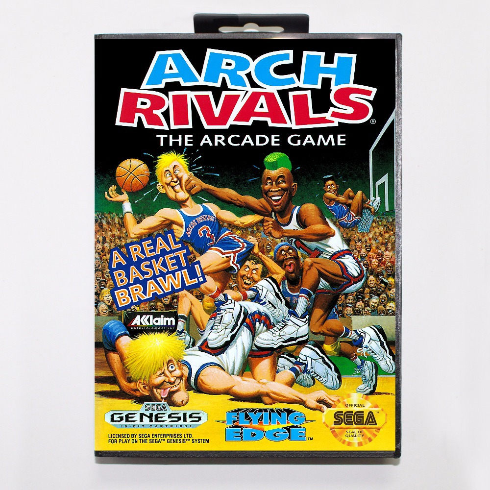 Arch Rivals Game Cartridge 16 bit MD Game Card With Retail Box For Sega Mega Drive For Genesis
