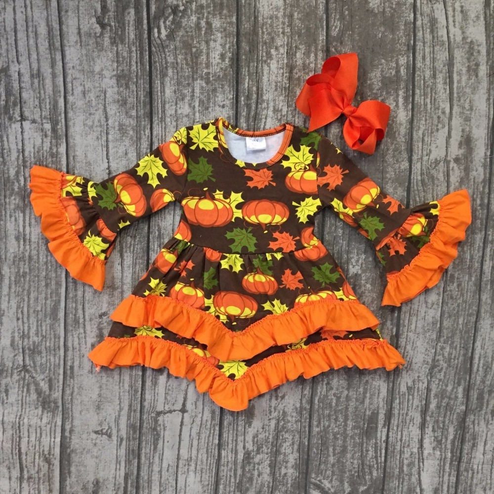 baby girls thanksgiving Fall winter dress baby thanksgiving pumpkin cotton dress children girls boutique dress with clipbows frank buytendijk dealing with dilemmas where business analytics fall short