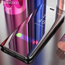 Люксовый чехол на застежке для Oneplus 6 сенсорный стенд Oneplus6 кожа Original 360 зеркала всего тела телефон чехлы для One Plus 6 Etui