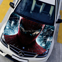 car styling exterior accessories HD 3d Printing Spider Man Poster car sticker Waterproof stickers Change color film ,135*150cm