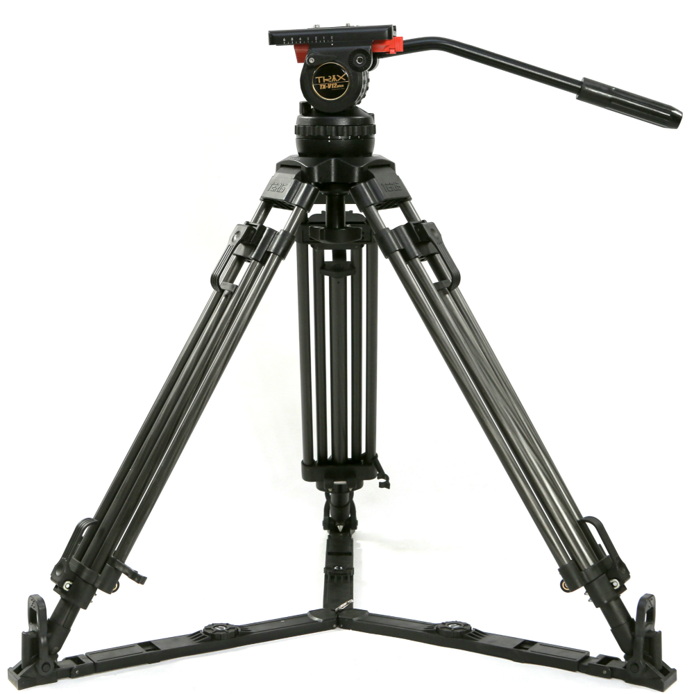 TERIS 65 V12T Professional Carbon волокно штатив видео камера w/жидкости нагрузка на голову 12 кг для Tilta Rig Red Scarlet Epic FS700