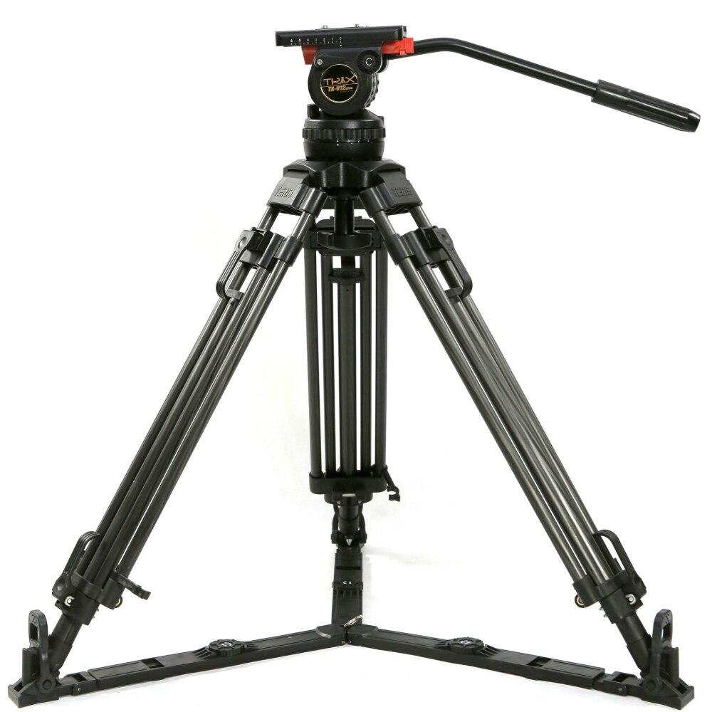 TERIS 65 V12T profesional de trípode de fibra de carbono de vídeo trípode de cámara w/líquido cabeza de carga 12 kg para TILTA equipo rojo escarlata épica FS700