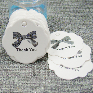 3*3cm 100pcs personalised wedding thank you tag white paper thank you ribbon gift hang tag for box /candy/gift /favor decroation