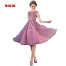 FADISTEE горячая Распродажа элегантное вечернее платье вечерние платья платье с аппликацией бисером vestido de noiva платье трапециевидной формы