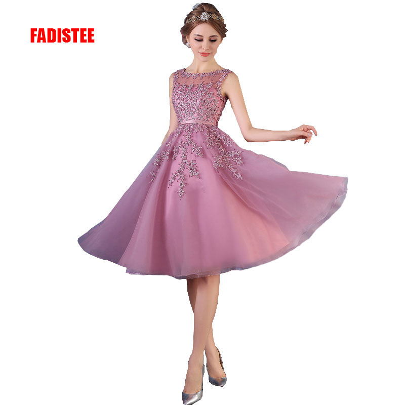 FADISTEE Hot sale elegant   evening     dress   party   dresses   appliques   dress   beading vestido de noiva A-line   dress