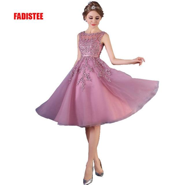 Fadistee Лидер продаж элегантное вечернее платье с аппликацией платье бисером платье Vestido De Noiva Платье трапециевидной формы