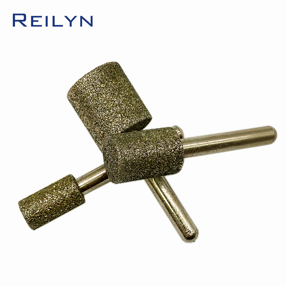 1pc 46# Cylinder Bits 6-25mm Emery Grinding Points Diamond Abrasive Bits Jade Grinding Burr Teeth Dental Machine Abrasives