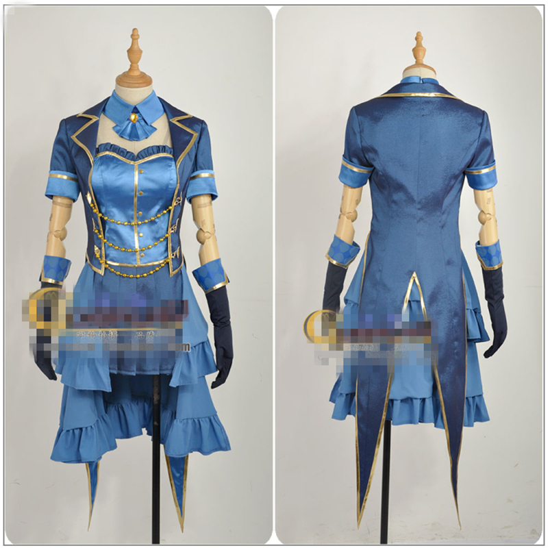 Japanese Amine THE IDOLM@STER Cinderella Girls Tulip Kanade Hayami Cosplay Costume Custom Made Woman Dress