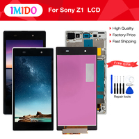 5.0'' Black White LCD For SONY Xperia Z1 Display Touch Screen with Frame For SONY Xperia Z1 Display L39 L39H C6902 C6903 LCD