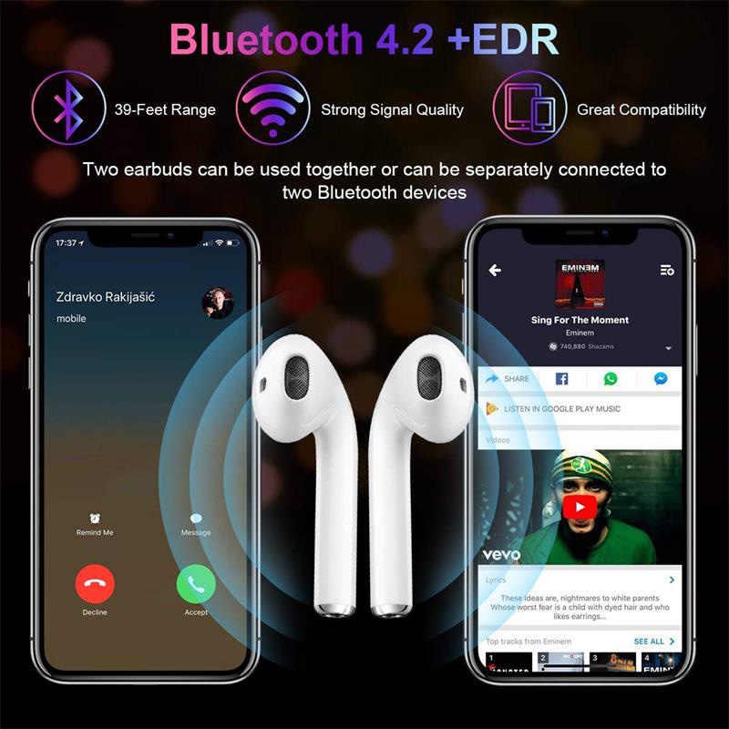 I7s TWS słuchawka bezprzewodowa Bluetooth słuchawki stereo zestaw słuchawkowy z etui z funkcją ładowania Mic wszystkimi Bluetooth tablet dla Xiaomi iPhone Samsung