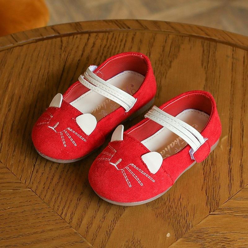 c034f0b549e1c 2018 Enfants Chaussures Filles Chaussures Plates Belle Chat Lapin Princesse  Plat De Mode Crochet et Boucle En Bas Âge Enfants Plat Chaussures Fille bébé  ...