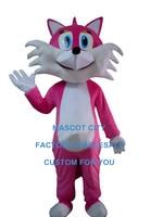 purple fox mascot costume pink fox mascot custom cartoon character cosplay adult size carnival costume 3543