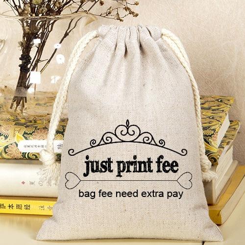 Packaging Bag print fee just print fee not including bag fee