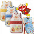 New fashion plus length Anpanman cartoon 50*30cm muti-color drawing dinner bibs overclothes  for smart brave baby girl and boy