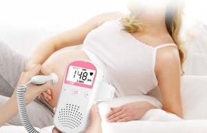 Image 4 - Doppler listen baby monitor fetal monitor right test medical no radiation pregnant women household quickened the stethoscope