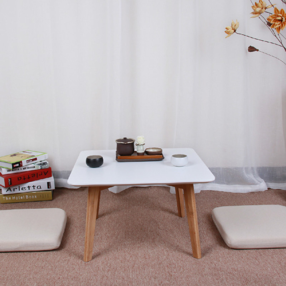 Natural Bamboo And Wind Floating Window Tatami Square Table Japanese Multi-function Coffee Table LM1221954
