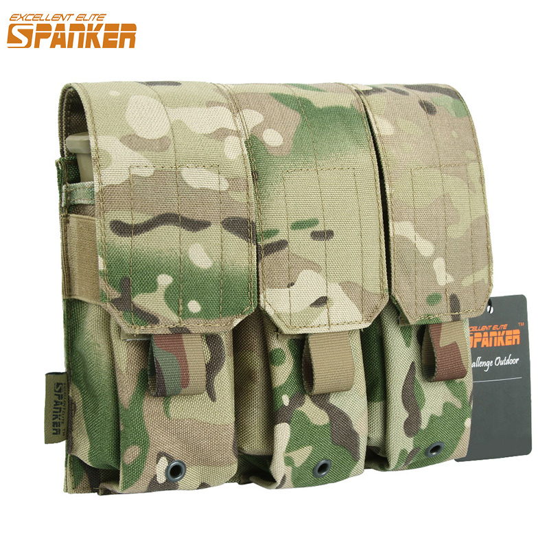EXCELLENT ELITE SPANKER Outdoor Hunting Molle <font><b>M4</b></font> <font><b>Magazine</b></font> Pouch Tactical Training <font><b>Magazine</b></font> Holster Pouch Vest Accessories image