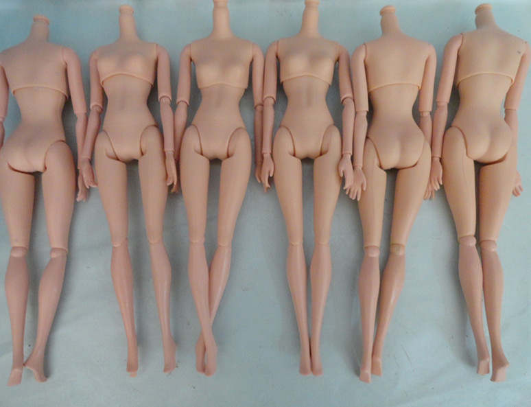 O for U NEW 20Pcs lot High Quality Plastic Solid Doll Naked Body For Dolls DIY