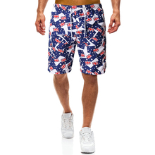 YASUGUOJI New 2019 Summer Fashion Printed Board Shorts Men Phantom Beach Boardshorts Compression Mens