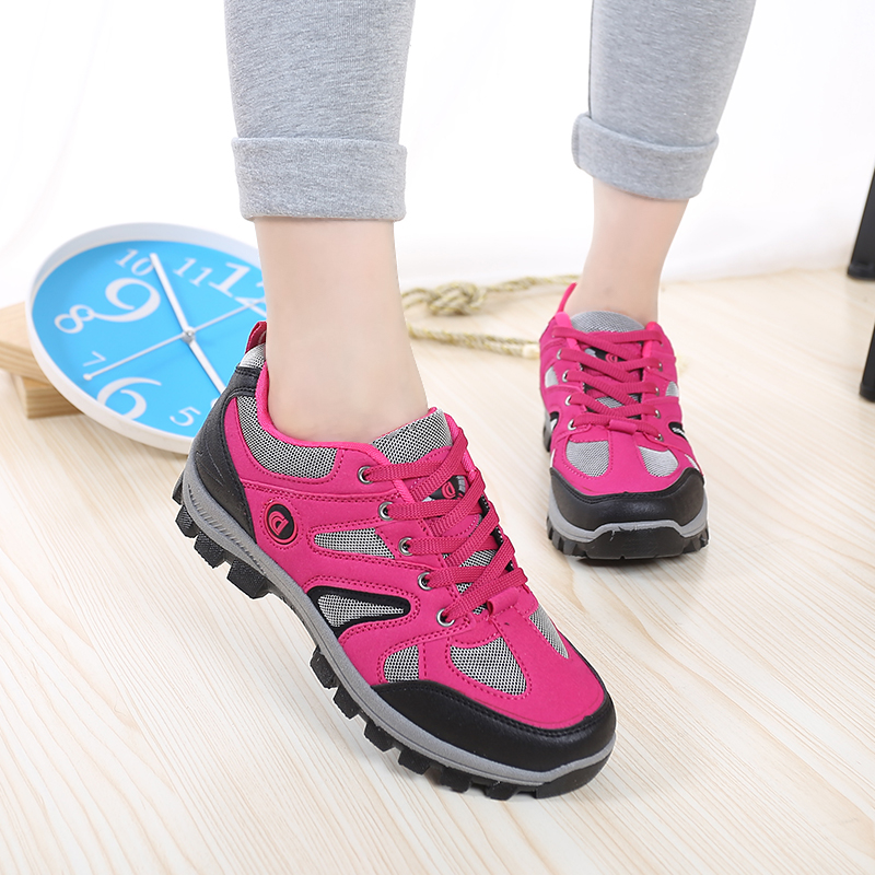 Women Travel Shoes Waterproof Hiking Shoes Non-slip Breathable Sneakers Travel Hiking Shoes Female Outdoor Sports Climbing Shoes 2016 new couple hiking shoes breathable non slip outdoor sports shoes large size climbing shoes for men and women