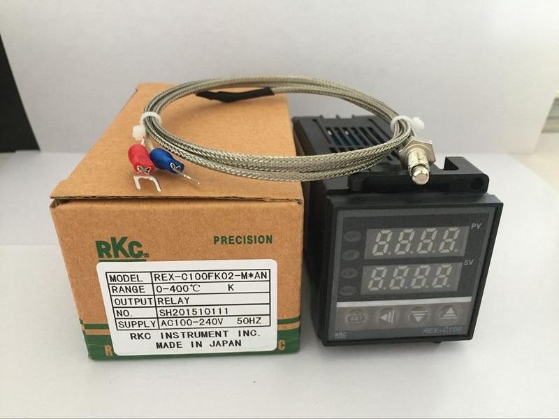 Dual Digital RKC PID Temperatur Controller REX-C100 mit K thermoelement, Relais Ausgang/SSR ausgang