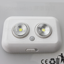 50pcs Wireless LED PIR Infrared Motion Sensor Induction Night Light Battery Operated Living Room Ceiling Cabinet Lamp