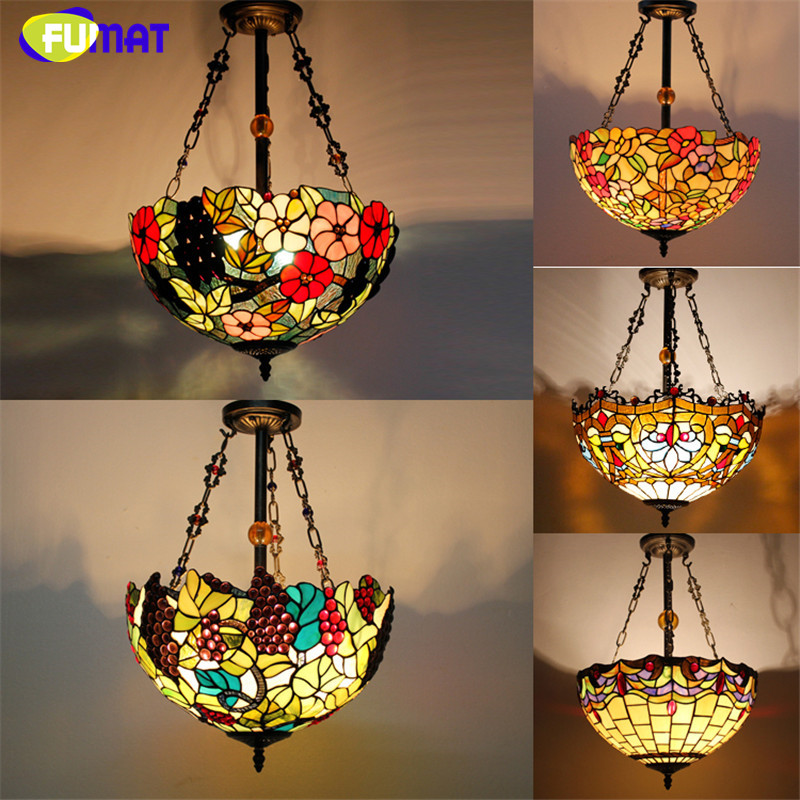 Tiffany Pendant Lamp Antique Country Style 16