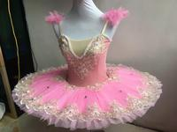 Pink Ballet Dance Dress Women Adult Professional Ballet Tutu Swan Lake Costumes Ballerina Children Leotard Performance Dress