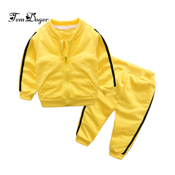 2018 autumn fashion baby girl clothes cotton long sleeve solid zipper jacket+pants 2pcs bebes tracksuit baby boy clothing set 3