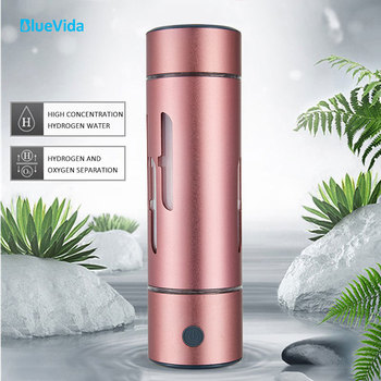 BlueVida New H2 Pure Hydrogen Rich Water Bottle Generator Water Ionizer can make 1200ppb without chlorine,O3 and H2O2