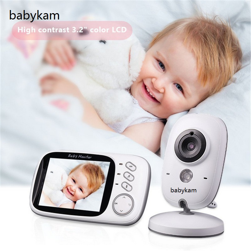 Babykam Baby Monitors 3.2 inch LCD IR Night vision Temperature monitors 8 lullabies Multi-language baby intercom baby monitors
