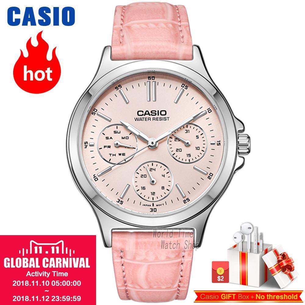 Casio watch elegant ladies watch LTP-V300D-1A LTP-V300D-2A LTP-V300D-4A LTP-V300D-7A LTP-V300L-1A LTP-V300L-2A LTP-V300L-4A casio ltp 1259pd 2a