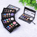 Professional 12+2 Warm Color Eyeshadow And Blusher Palette Neutral Nude Eyeshadow Glitter Cosmetic Wholesale Makeup Palette Set