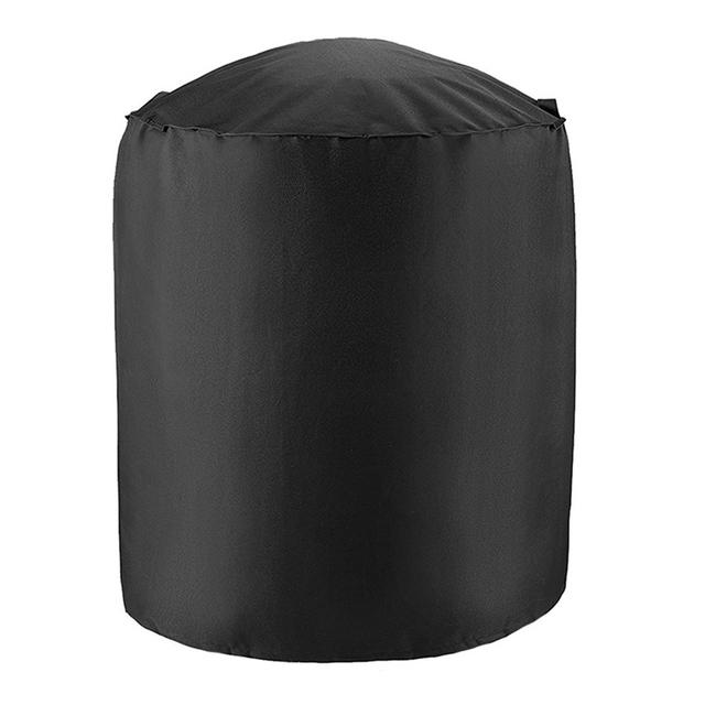 black Black leather ottoman 5c64f17631d12