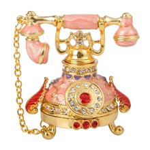 FLETCHER Brand Exquisite Pink Telephone Style for Trinket Box