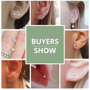 Silver Hearts Stud Earrings5