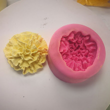 Carnation 3D flower silicone mold aromatherapy gypsum homemade diy manual soap mould