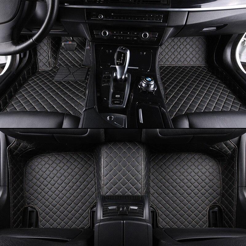 1Pcs Black Leather Mat Car Boot Pad Liner Cargo Mat Tray Trunk Floor Protector Mat for Mercedes-Benz B-Class 2012-2018 Yingchi-Car