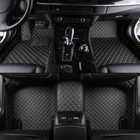 kalaisike Custom car floor mats for Volkswagen All Models polo golf tiguan Passat jetta touran touareg vw Phaeton car styling