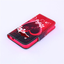 High Quality Leather Flip Case Cover For Samsung Galaxy Xcover 3 G388F Painted Style Leather TPU Case with Card Slots FreeShip