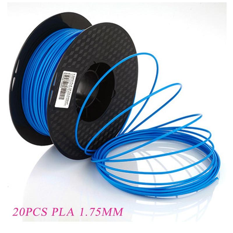 20 couleurs 3D stylo impression Filaments 1.75mm PLA 3D imprimante en plastique matériel pour 3D Imprimante & 3D Imprimante Stylo