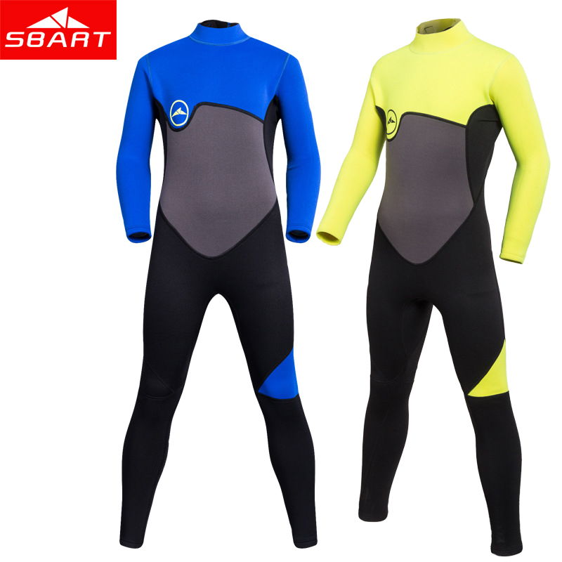 SBART 2MM Long Neoprene Kids Surfing Wetsuit Girls Boys Anti UV Jellyfish Snorkeling Mergulho Full Wetsuits Scuba Diving Suit K sbart upf50 rashguard 2 bodyboard 1006