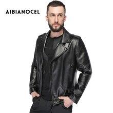2017 New Fashion Style Motorcycle Leather Jacket Men Real Leather Sheepskin Jacket Winter Leather Coat Male Genuine Leather Coat