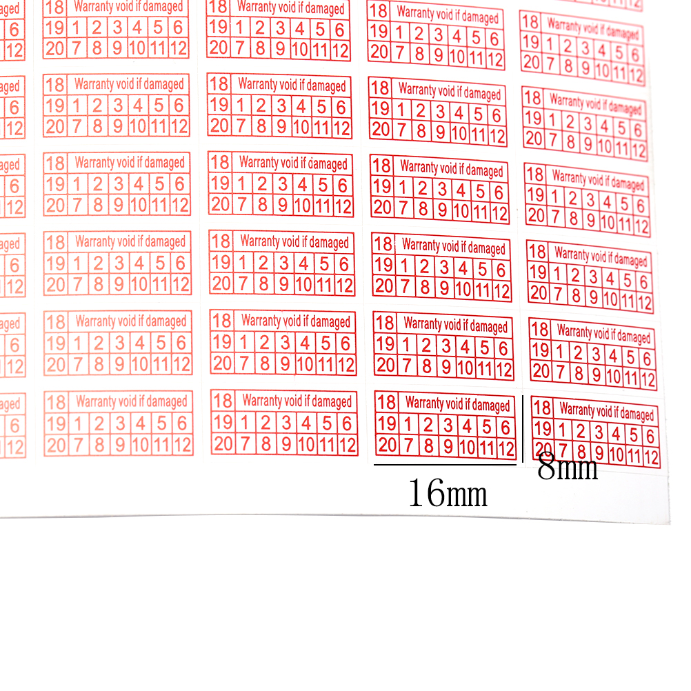 200 шт. 2018-2020 рваная бумага, гарантия, если поврежденная защита, наклейка безопасности, уплотнение